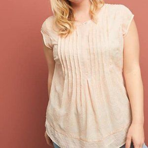 Anthropologie Maeve Soliloquy Textured Blouse L